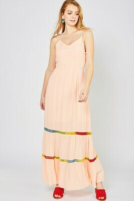 Maxi Dress w Rainbow Insert Detail