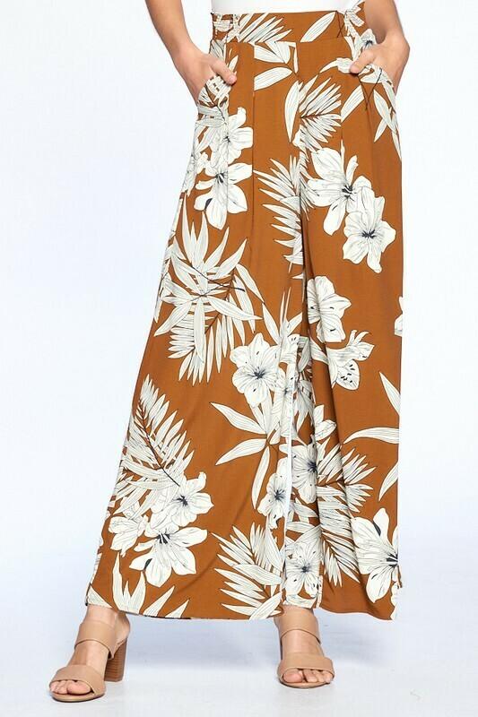 Serena Tropical Wide leg Pants