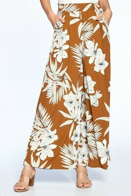 Serena Tropical Wide leg Pants