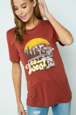 GO WEST MOUNTAIN GRAPHIC TEE