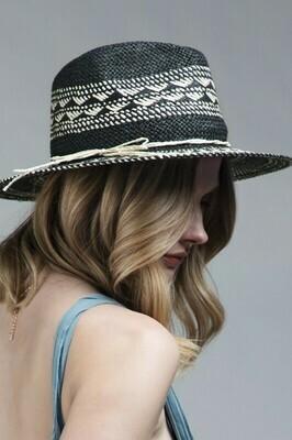 Woven Crisscross Panama Hat
