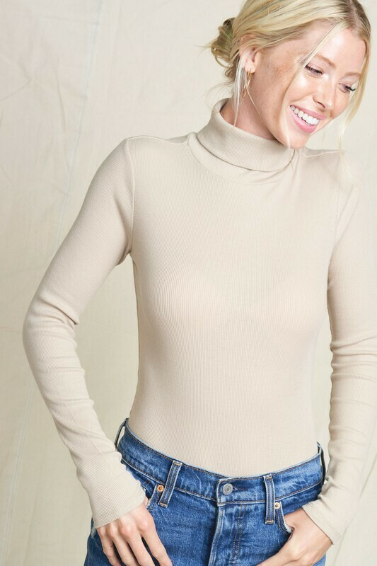 Fitted Turtle Neck Light Weight Sweater
