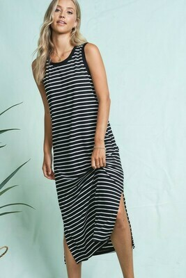 Striped Maxi Tank Dress