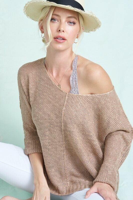 Fine Luxe Sweater Top