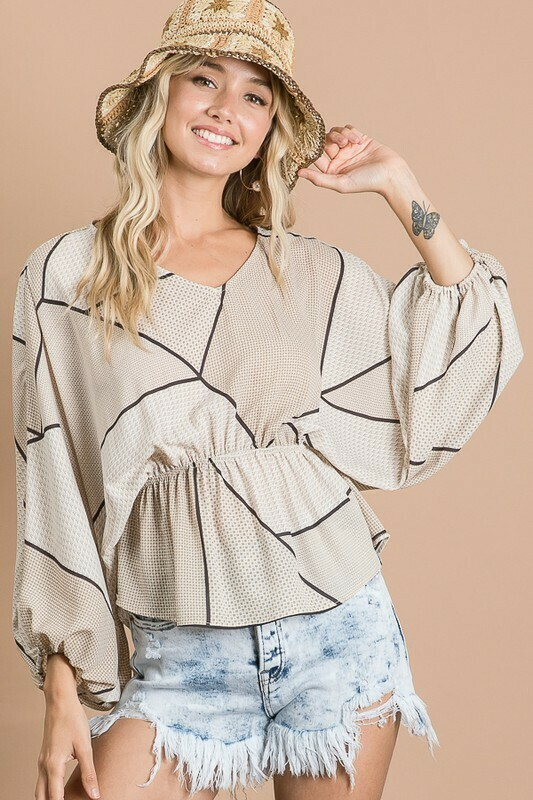 Dolman Sleeve Flare Top
