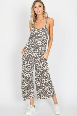 Animal Print Cami Jumpsuit
