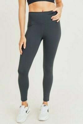Essential Solid Black Highwaisted Leggings
