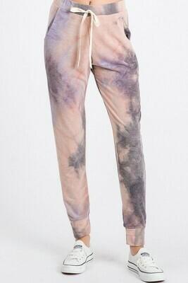 Tie Dye Drawstring Pants