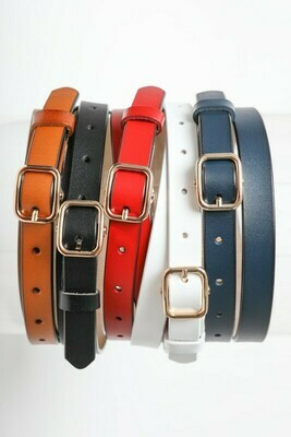 Classic Skinny Leather Fashion Belts