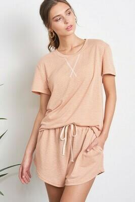 Ginger Stripe Pajamas Lounge Wear Set