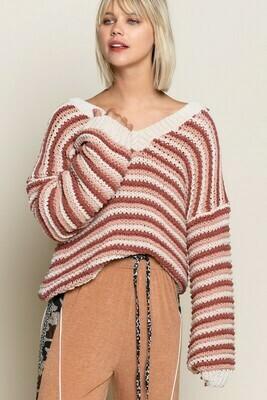 Ginger Rose Multi Stripe Sweater