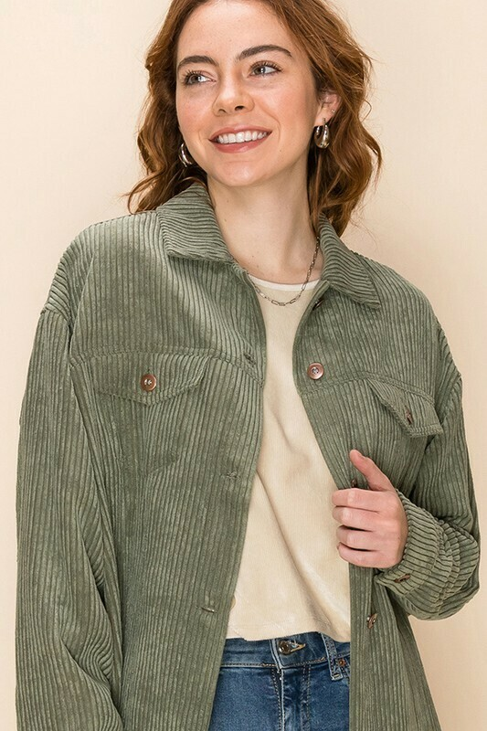 Corduroy Button Down Jacket