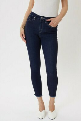 Fray Bottom High Rise Basic Ankle