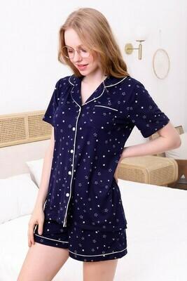 Short Sleeve Star Pajama Set