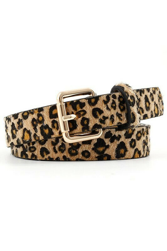 Leopard Trendy Buckle Belt