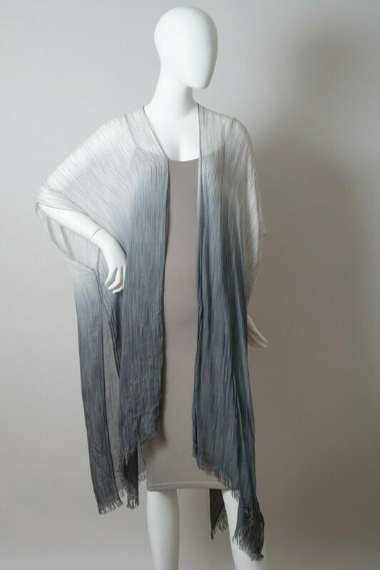 Ombre Vertical Multicolor Stitched Kimono