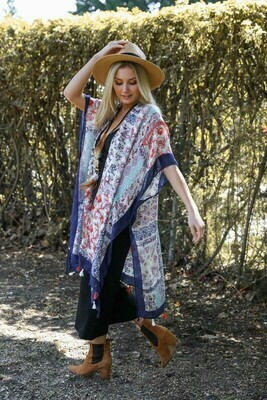 Paisley Floral Patchwork Kimono