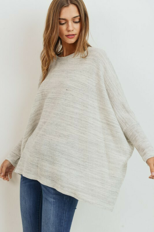 Brushed Marbled Knit Boxy Top