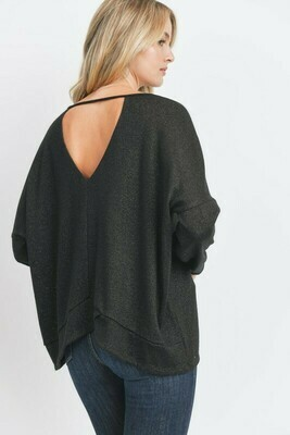 Lurex Keyhole Back Detail Top
