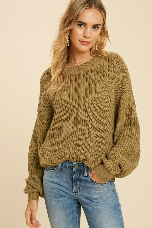 COTTON BLEND KNITTED SWEATER