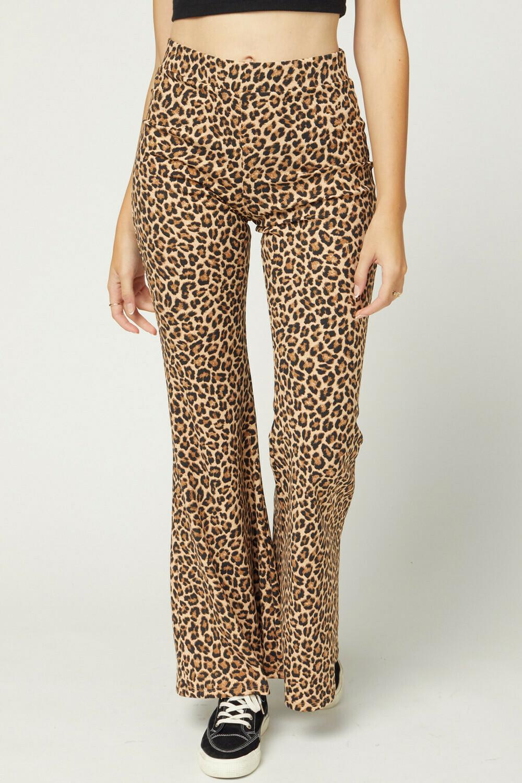 Leopard print bell bottoms