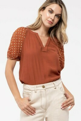 Swiss Puff Sleeve Top