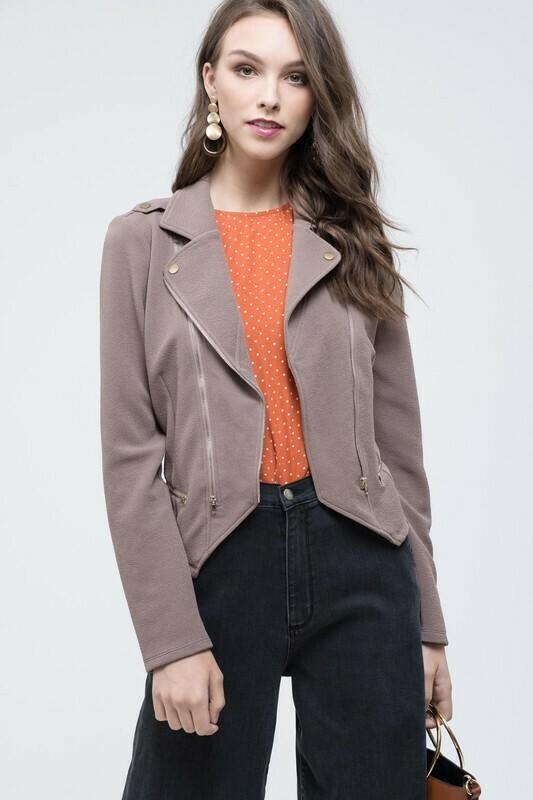 Knit Moto-Jacket
