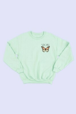 POCKET BUTTERFLY SWEATSHIRT