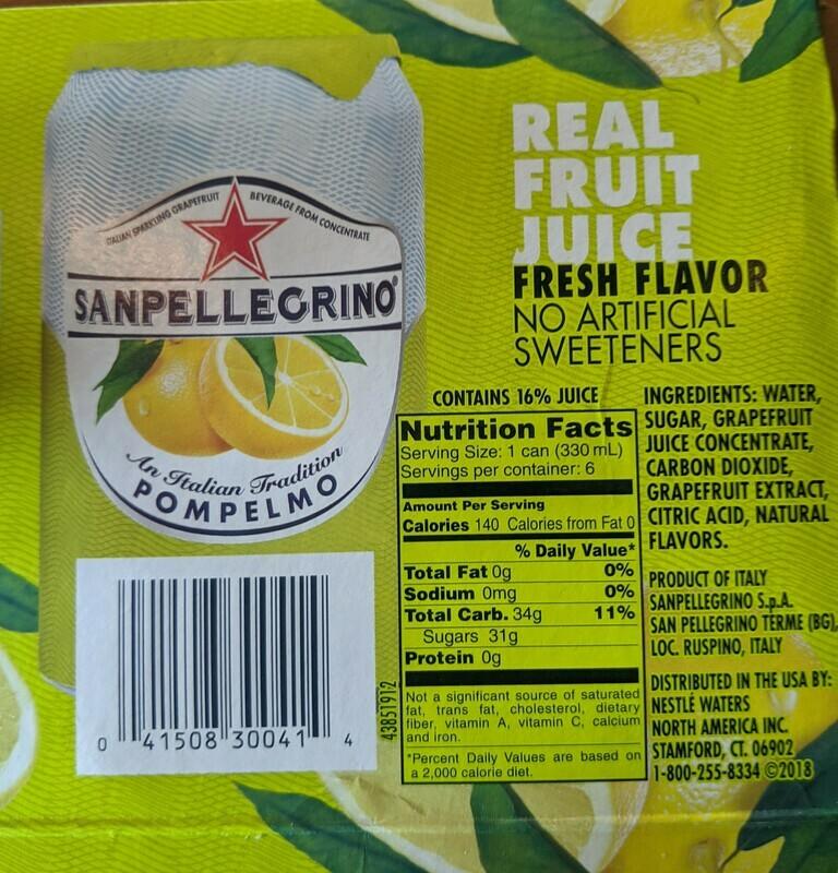 Pick Up San Pellegrino - Grapefruit