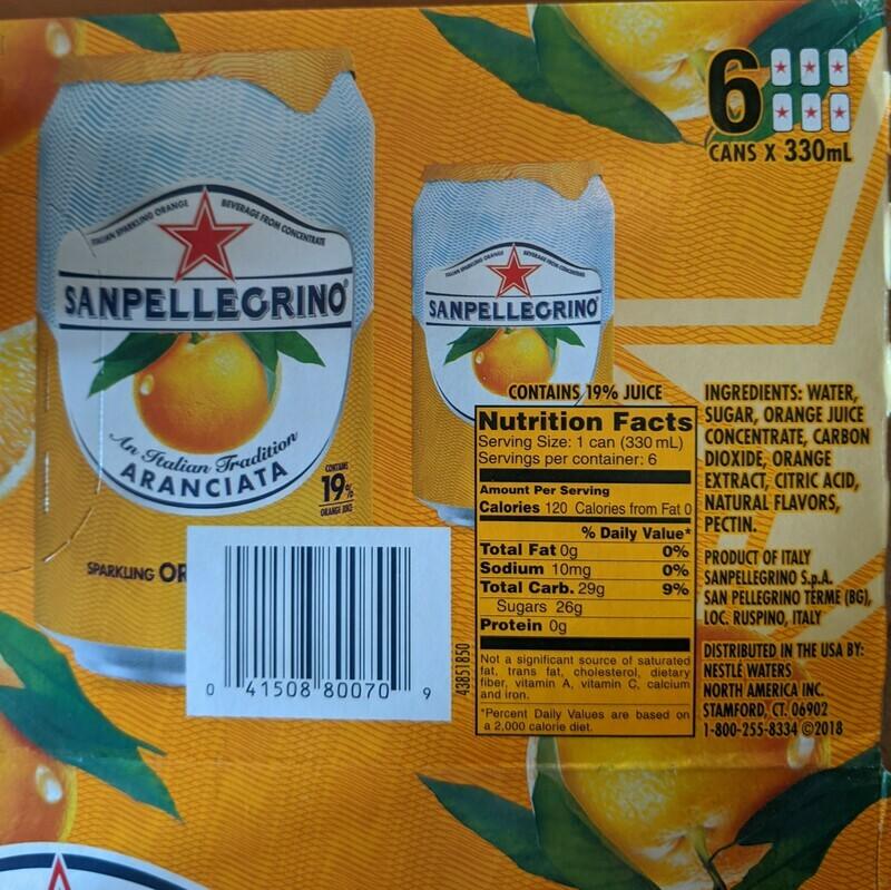 Pick Up San Pellegrino - Orange