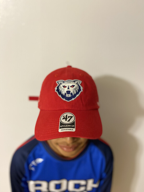 Team Rock Out 47 Red Custom Dad Hat