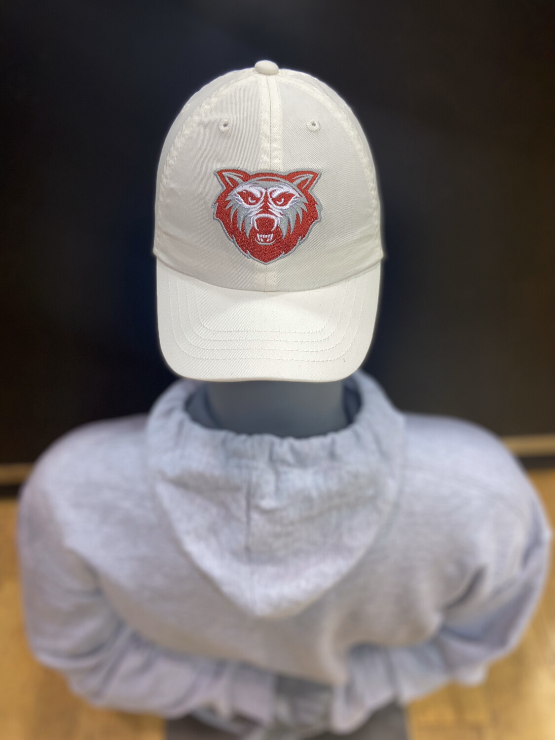 White & Red Team Rock Out Polo Infant 5u Dad Hat