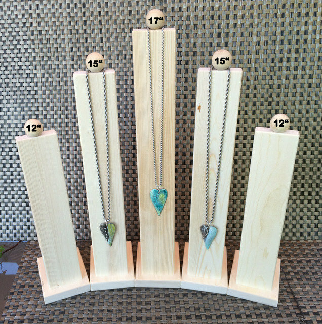 Display Stand, Wood Display, Jewelry Display, Necklace Display, Necklace Holder, Natural Wood Display, Minimalist Display COMBO PACK of 5