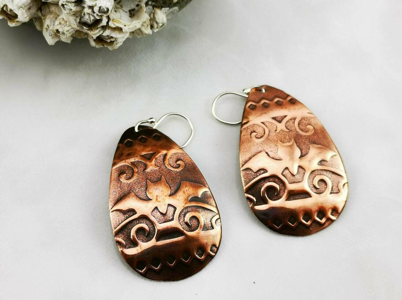 Bat Crazy Copper Earrings