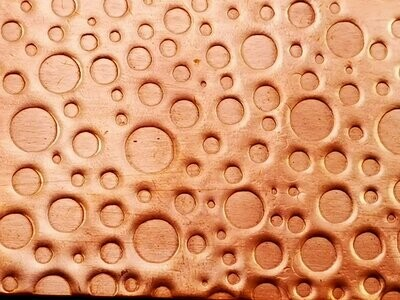 Bubble Patterned Textured Copper