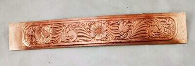 Textured Copper Sheet Metal from a William (Bill) Rice Hand Engraved design 6