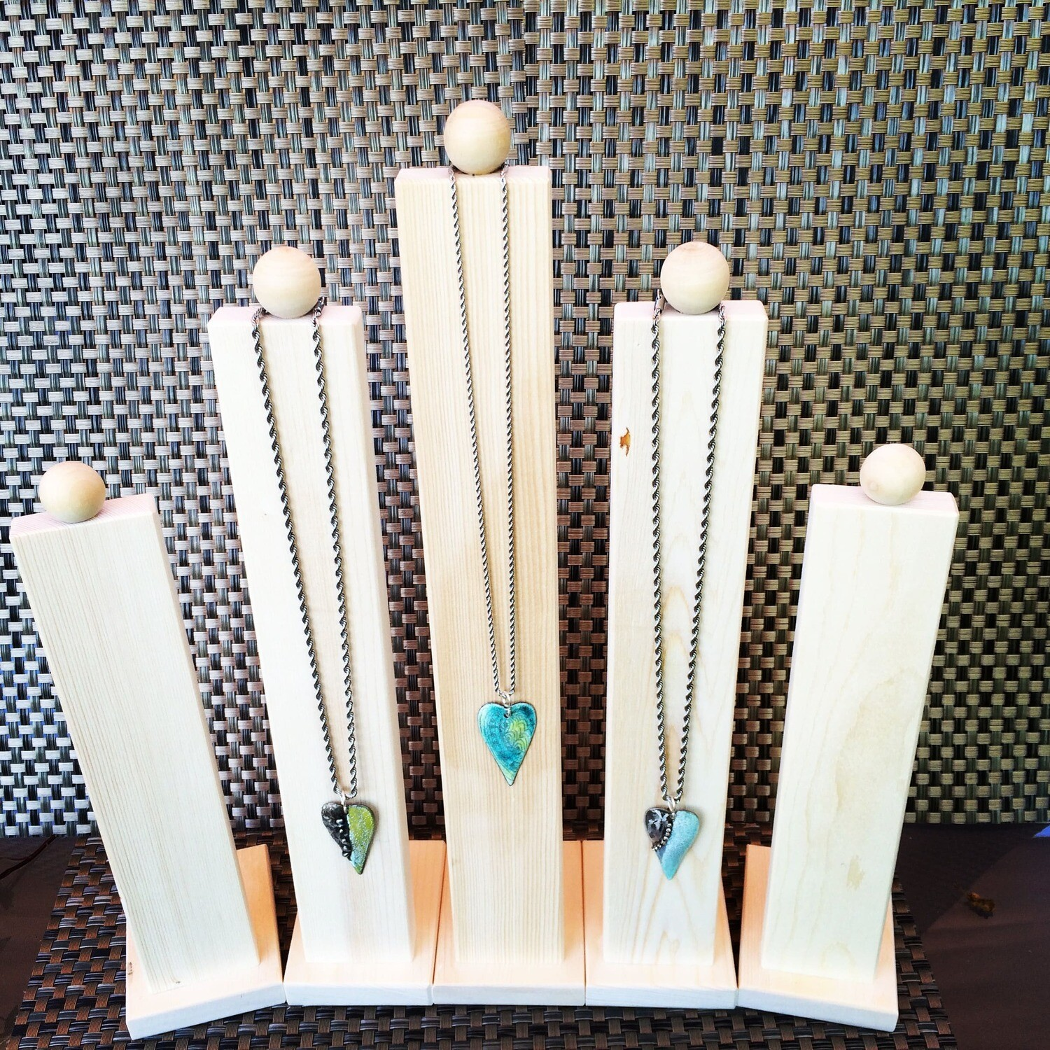 Display Stand, Wood Display, Jewelry Display, Necklace Display, Necklace Holder, Natural Wood Display, Minimalist Display, 12