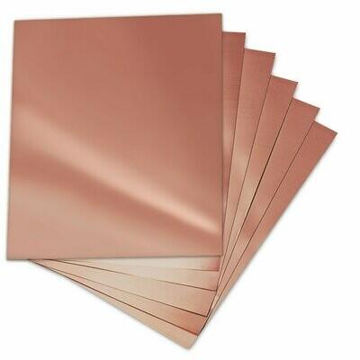 """6"""" x 6"""" Copper Sheet Metal 22 gauge"""