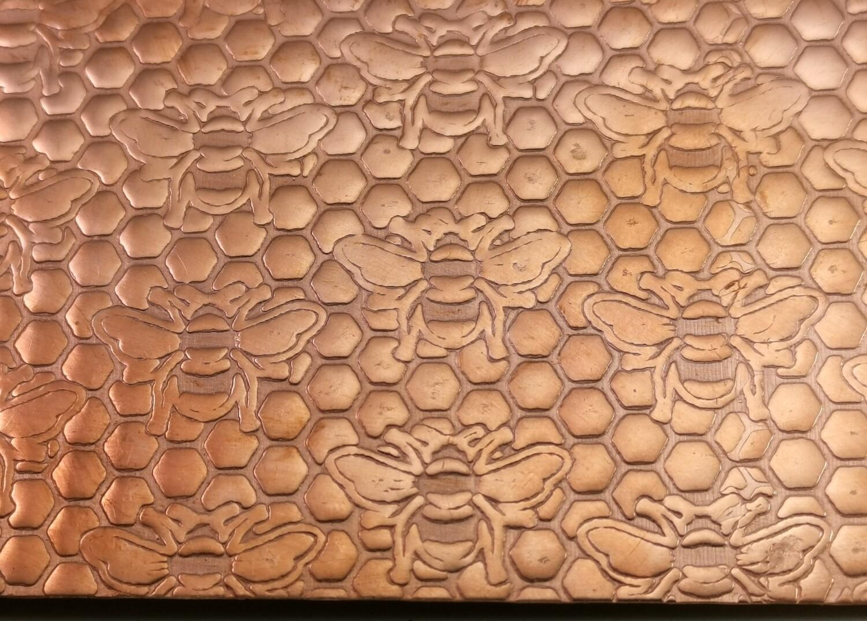 HONEYBEE Patterned Copper Sheet Metal