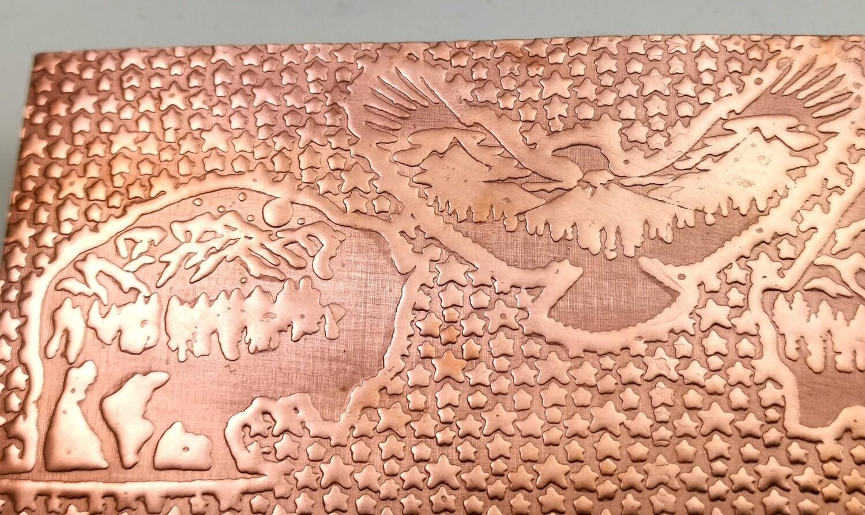 Big Sky, Buffalo, Wolf, Eagle, Bear, Patterned Copper, Textured Copper, Copper Sheet, Copper Metal, Rolling Mill Patterned, Rolling Mill
