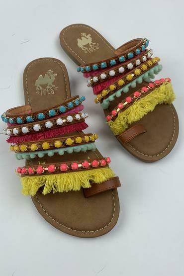 Sandal Boho Camel Vivid
