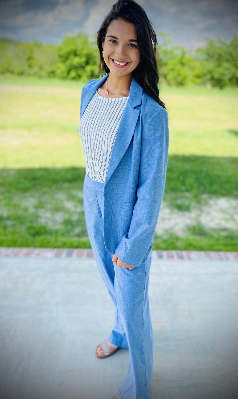 Pant Chambray Soft Blue