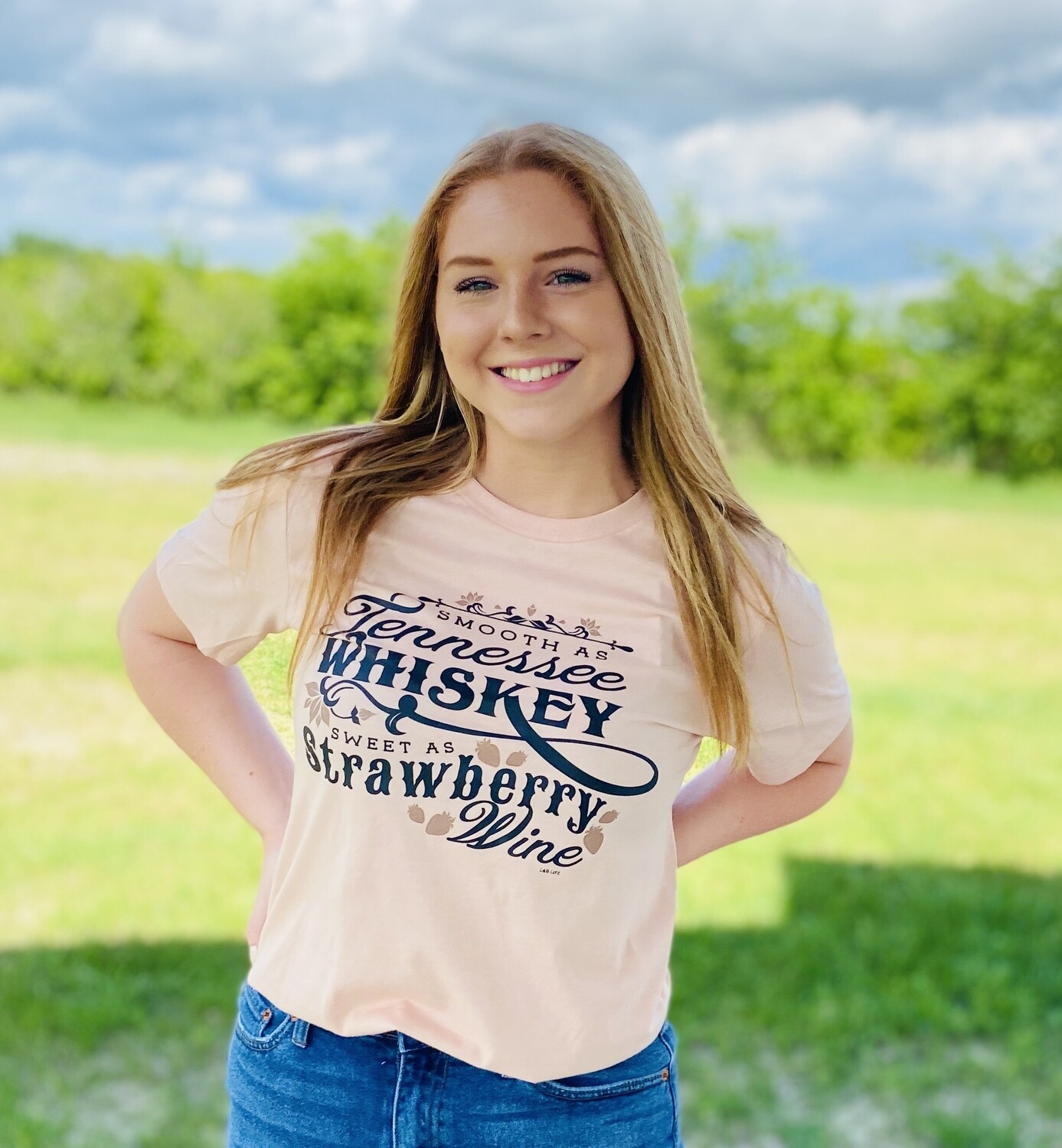 Tshirt Smooth Tennessee Whiskey Dusty Pink Canvas