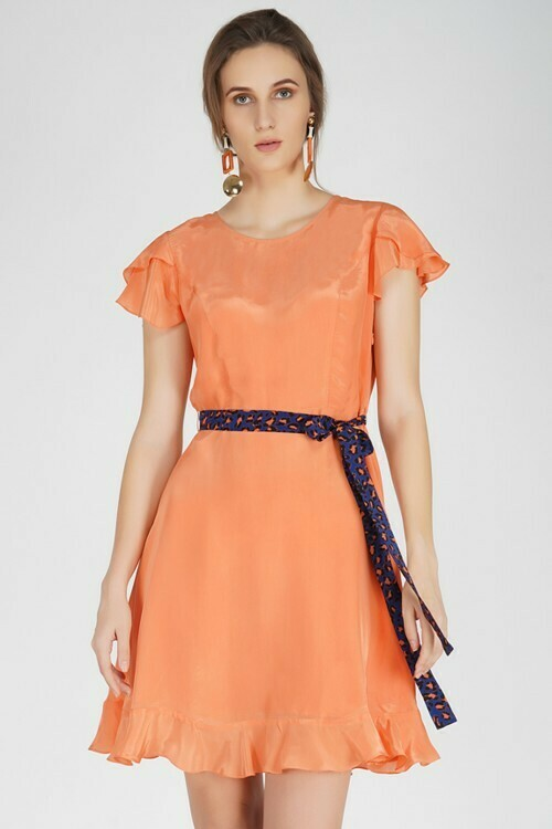 Dress Fit & Flare Coral