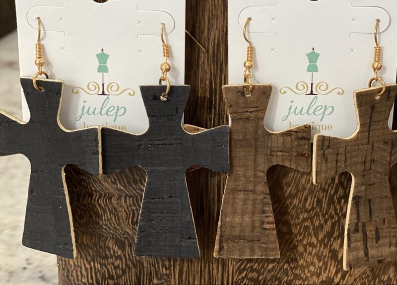 Earring Cork Cross