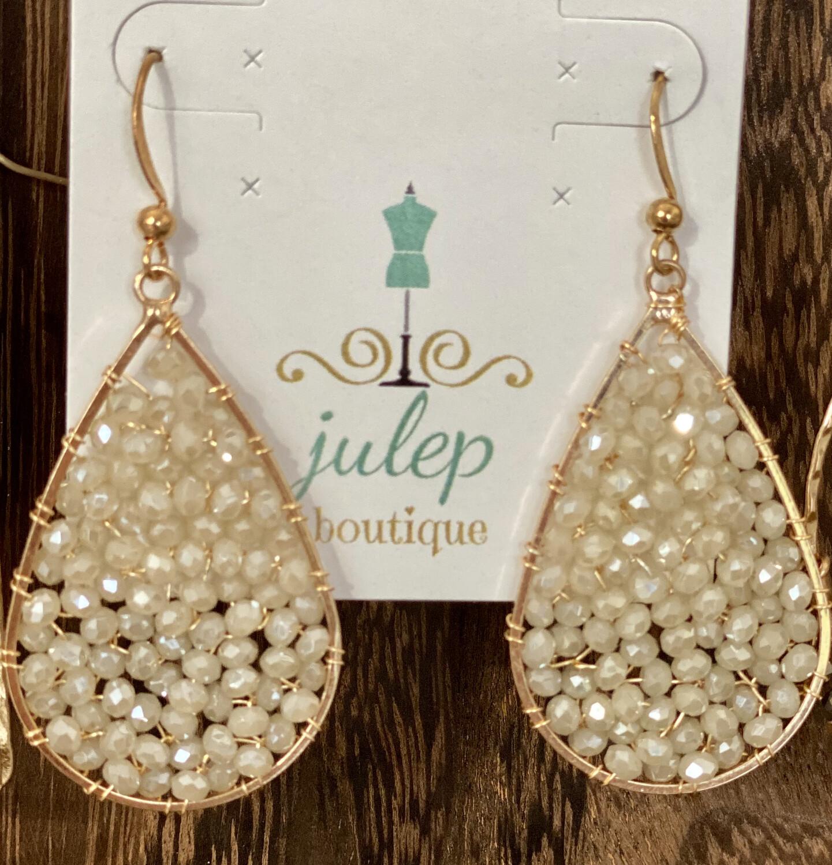 Earring Glass Bead Opaque