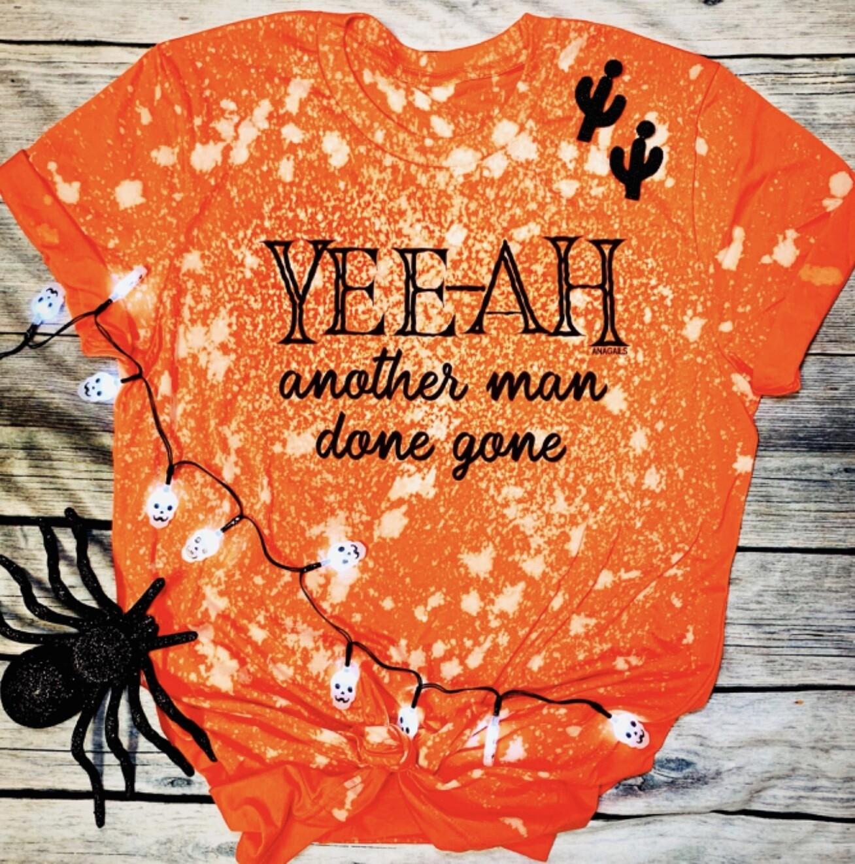 Tshirt Marie Laveau Orange Bleach