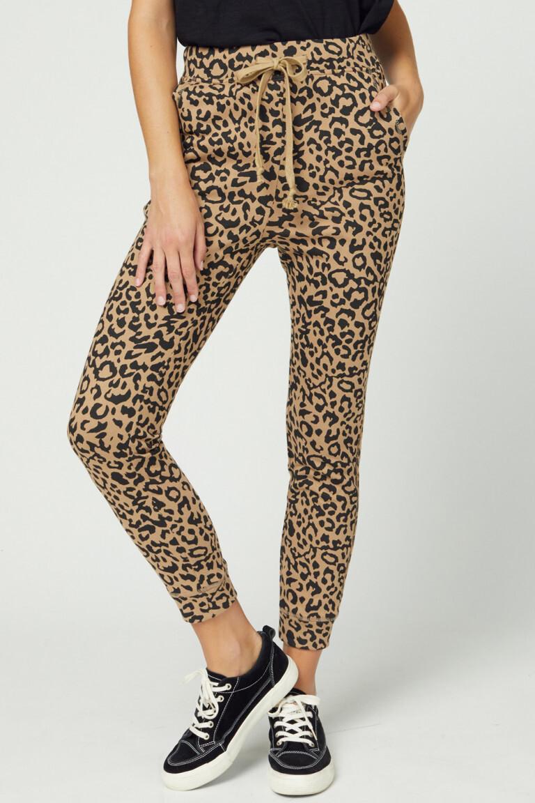 Leopard Print Jogger - Mocha