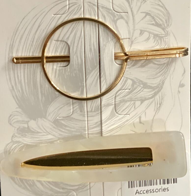 Hair Pin Set Opaque & Circle