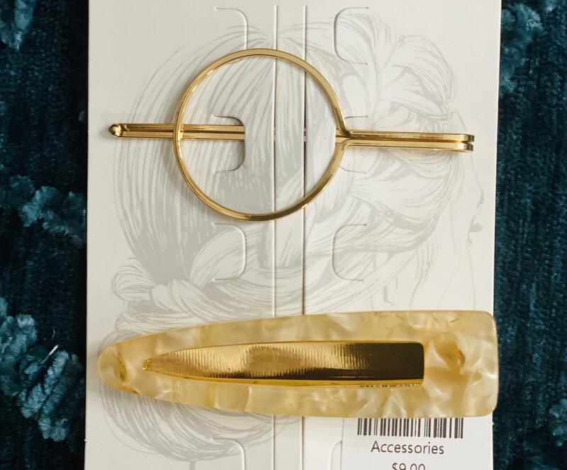 Hair Pin Set Apricot & Circle